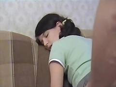 Cute russian legal age teenager in pigtails 1st episode casting