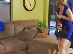 Redtube Movie:A sexy horny mum in blue dress