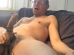 masturbation, cock, solo, mature,