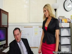 Amber ashlee takes cock in the office to save her job