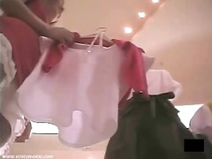 Department store clear upskirt panties expose
