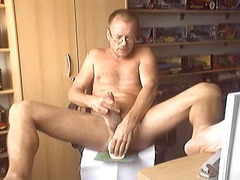 mature, gay, dildo, masturbation