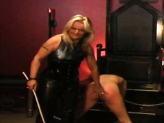Strict german mistress canes and whips slavegirl