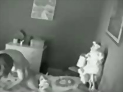 Spy cam of mum playing...