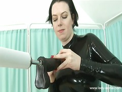 masturbation, latex, fucking, machines