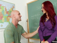 Busty redhead teacher jayden james fucks flirtatious student