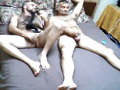 Horny bear & mature dudes