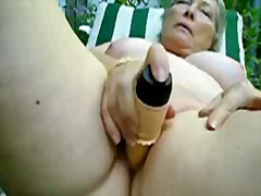 Thumb: Granny alice toying pu...