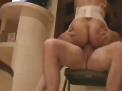 cowgirl, orgasm, garter, homemade