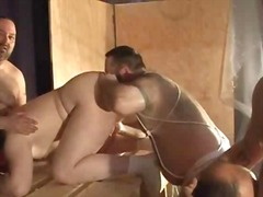 Fat bears in bondage session - 45:37