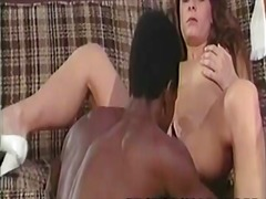 Fallon retro white babe entertaining a black rod