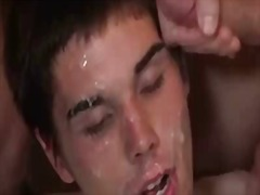 Nasty interracial gay guys gangbang fuck