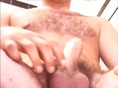 Cute gay guy solo wanking