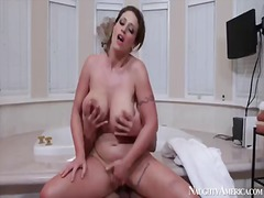 Giant boobed chick eva notty is bein gently pleased with cunilingus and great fuck by her boyfriend tony martinez