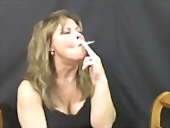 mature, tits, smoking,