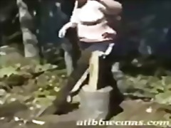 Bbw wood cutting. thenâ video