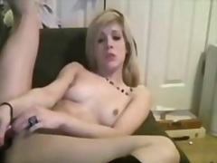 HOT Golden-Haired Jerk... - Private Home Clips