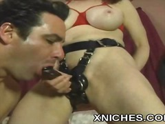 huge, horny, couple, enjoy, femdom, orgasm