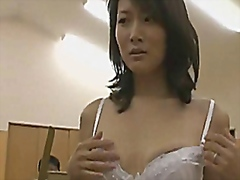 Subtitled ENF CMNF Japanese wife nude art model strips