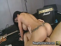 deepthroat, shaved, big boobs,