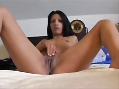 Private Home Clips Movie:Lewd brunette hair receives fi...