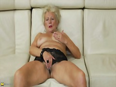 Thumb: Granny's self pleasure