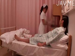 Hot nurse takes care o...