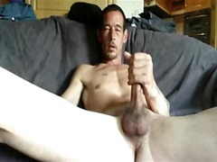 See: Guy jerking his big cock