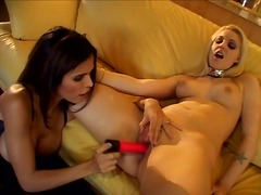 Thumb: Blonde and brunette le...