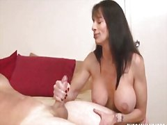 milf, handjob, couple, masturbation,
