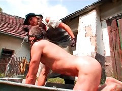 Alpha Porno Movie:Rough outdoor pony play with a...
