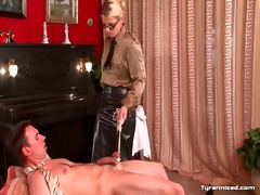 Dominant girl in leath... video