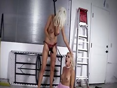 Blonde puma swede is on the edge of nirvana after lesbian sex with sandy