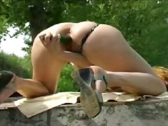 Over Thumbs Movie:Stunning bitch cucumber fuck h...
