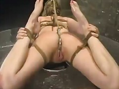 Yobt Movie:Cute blonde has bound up and d...