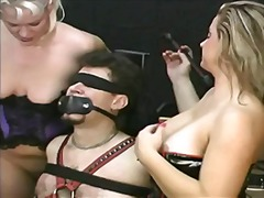 latex, toy, blonde, tits, group,