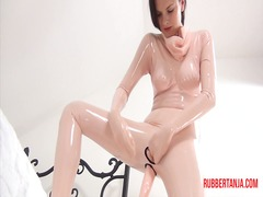 Rubber masturbation an... video