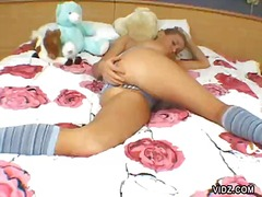 Over Thumbs Movie:Young blonde chick rolls all o...