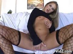 Over Thumbs Movie:Attractive blonde pleasures self