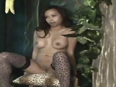 Over Thumbs Movie:Bitch girl shows off wet pussy