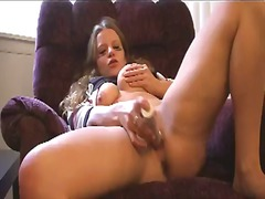 Over Thumbs Movie:Blonde babe enjoys rough sport