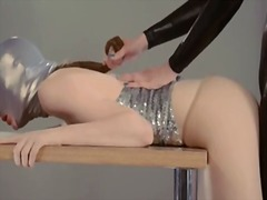 Horny strapon lesbians in mask playing