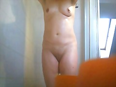 voyeur, cam, mature, nipples, shower