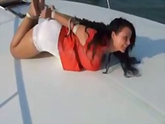 Xhamster Movie:Hogtied on a boat
