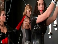 Sissies chained up in ... video