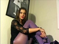 Purple stockings joi video