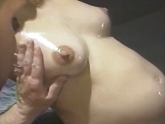 blonde, fingering, oil,