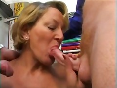 Mature woman and two y... video