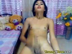 shemale, asian, swallow, cumshot, busty, tranvestite, cock, solo, jerking, transexual, tranny