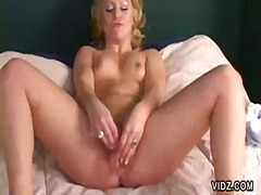 Alluring blonde slut f...